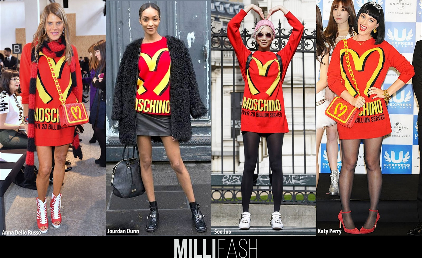 Who wore it better? Moschino